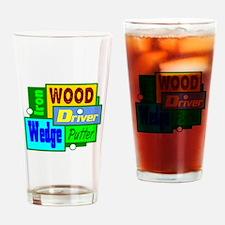 Golf Clubs Design Drinking Glass