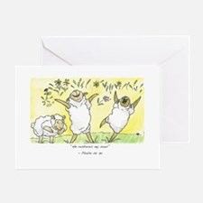 Psalm 23: 3a Greeting Card