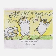Psalm 23: 3a Throw Blanket