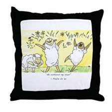 Psalm 23: 3a Throw Pillow