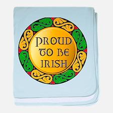 Proud to be Irish baby blanket
