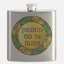 Proud to be Irish Flask