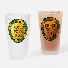 Proud to be Irish Drinking Glass