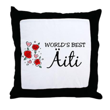 WB Mom [Finnish] Throw Pillow