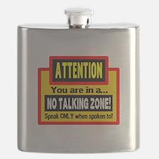 No Talking Zone Flask