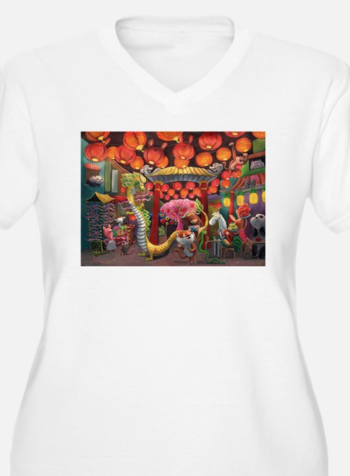 Animals of China Town Plus Size T-Shirt