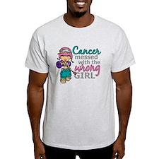 Combat Girl Thyroid Cancer T-Shirt