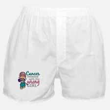 Combat Girl Thyroid Cancer Boxer Shorts