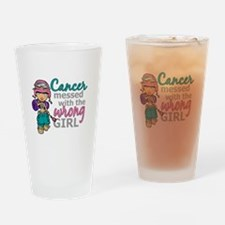 Combat Girl Thyroid Cancer Drinking Glass