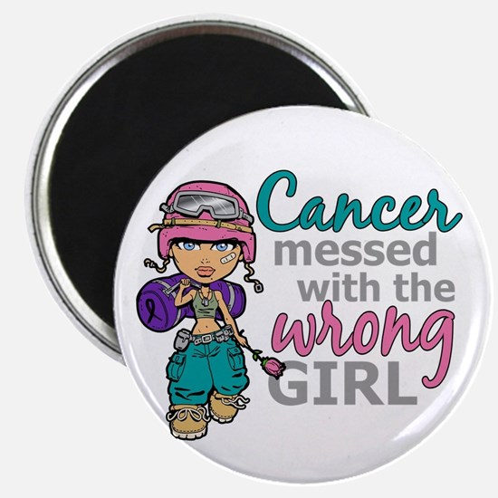 Combat Girl Thyroid Cancer Magnet