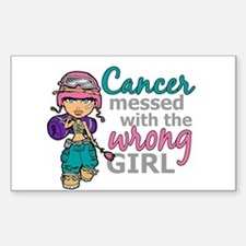 Combat Girl Thyroid Cancer Decal