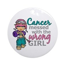 Combat Girl Thyroid Cancer Ornament (Round)