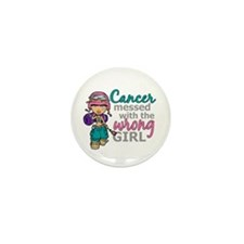 Combat Girl Thyroid Cancer Mini Button (10 pack)