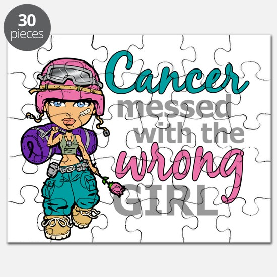Combat Girl Thyroid Cancer Puzzle