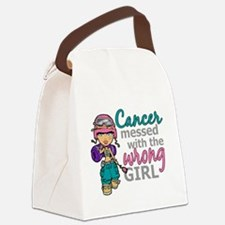 Combat Girl Thyroid Cancer Canvas Lunch Bag