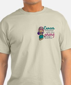 Combat Girl Thyroid Cancer T-Shirt