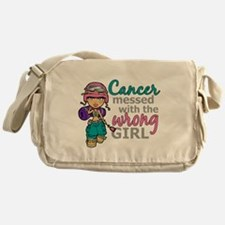 Combat Girl Thyroid Cancer Messenger Bag
