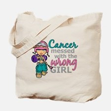 Combat Girl Thyroid Cancer Tote Bag