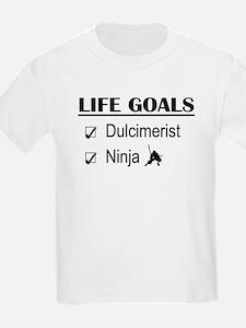 Dulcimerist Ninja Life Goals T-Shirt