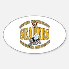 USN Seabees Bee Eagle 2 Decal