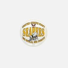 USN Seabees Bee Eagle 2 Mini Button