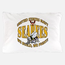 USN Seabees Bee Eagle 2 Pillow Case