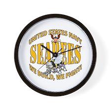 USN Seabees Bee Eagle 2 Wall Clock