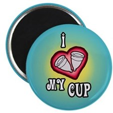 """2.25"""" I ♥ My Cup Magnet"""