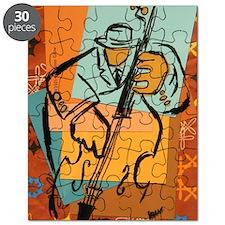 Jazz Bassist Glass Green Puzzle