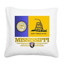 DTOM Mississippi Square Canvas Pillow