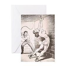 Nights of Horror by Joe Shuster Greeting Card
