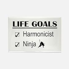 Harmonicist Ninja Life Goals Rectangle Magnet