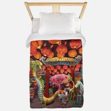Animals of China Town Twin Duvet
