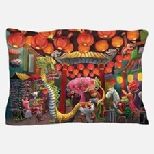 Animals of China Town Pillow Case