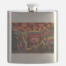 Animals of China Town Flask