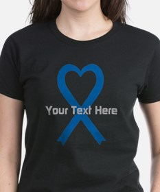 Personalized Blue Ribbon Hear Tee