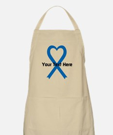 Personalized Blue Ribbon Heart Apron