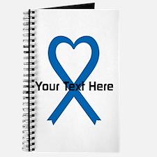 Personalized Blue Ribbon Heart Journal