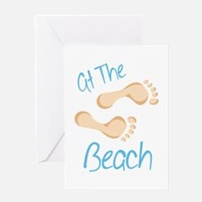 at The Beach Greeting Cards