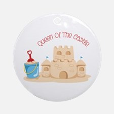 Queen Of The Castle Ornament (Round)