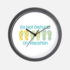 Do Not Disturb: On Vacation Wall Clock