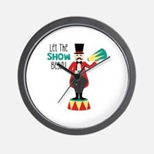 Let The Show Begin! Wall Clock