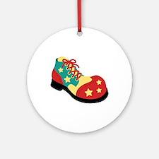 Circus Clown Shoe Ornament (Round)