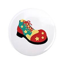 """Circus Clown Shoe 3.5"""" Button"""