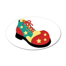 Circus Clown Shoe Wall Decal