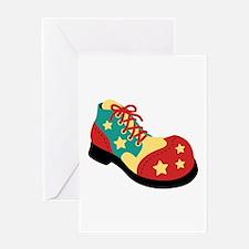 Circus Clown Shoe Greeting Cards