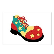 Circus Clown Shoe Postcards (Package of 8)