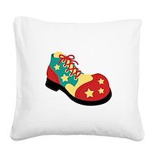 Circus Clown Shoe Square Canvas Pillow