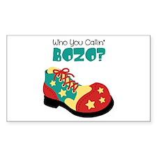 who you callin BOZO? Decal