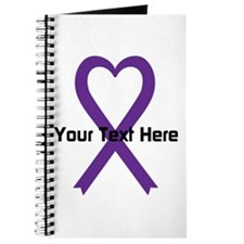 Personalized Purple Ribbon Heart Journal